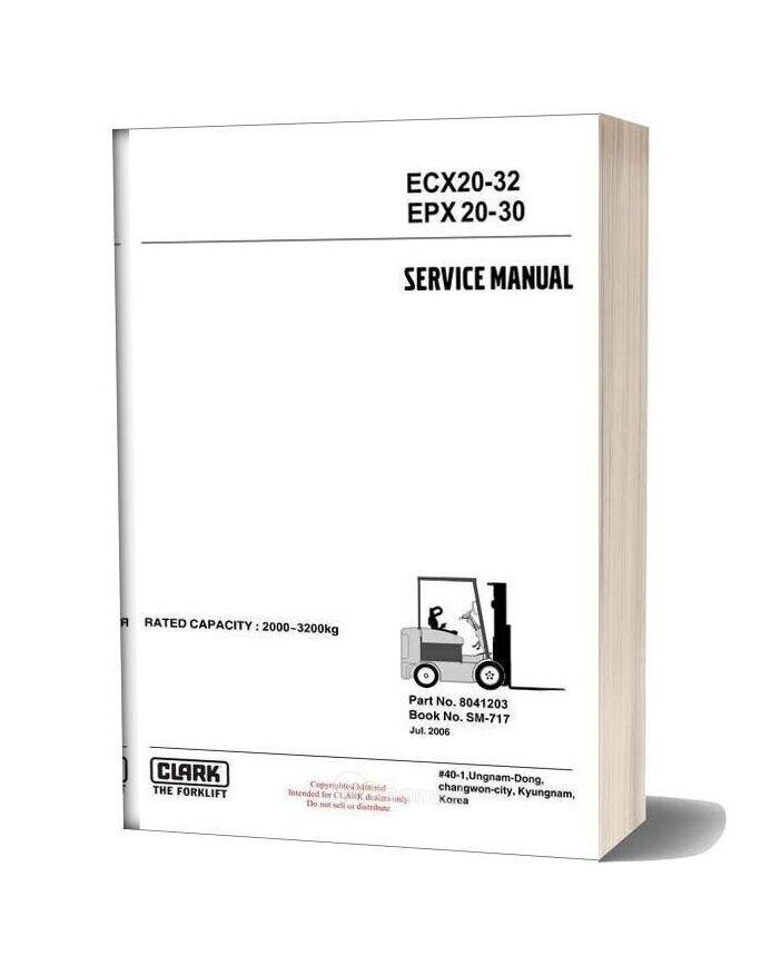 Clark Sm 717 Service Manual