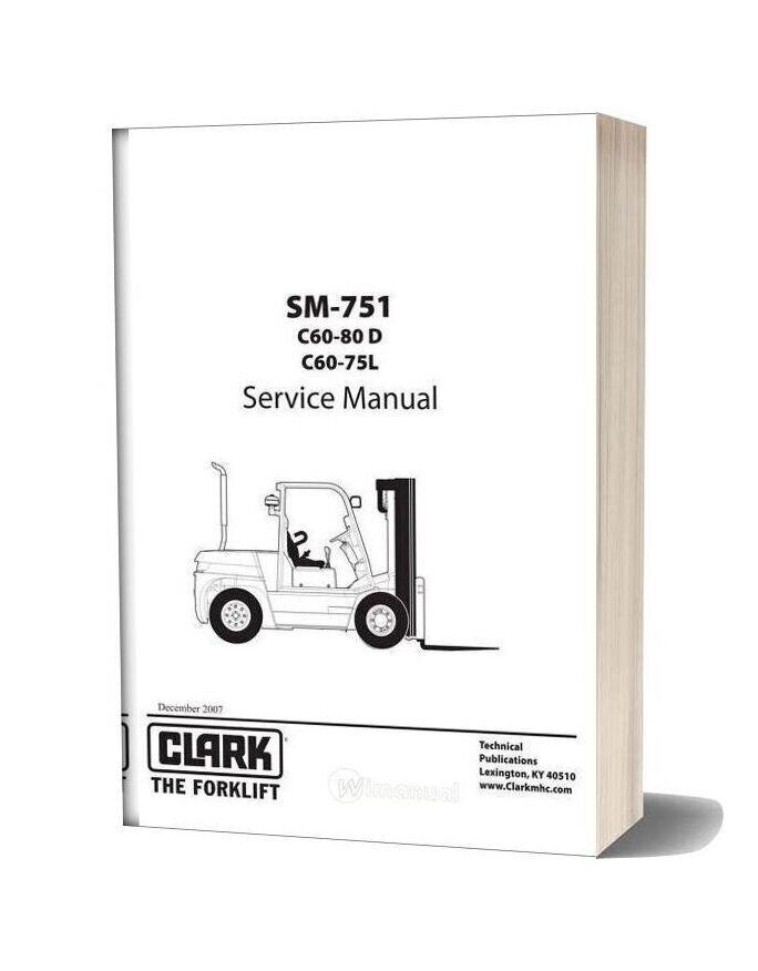 Clark Sm 751 Service Manual
