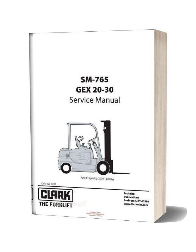 Clark Sm 765 Service Manual