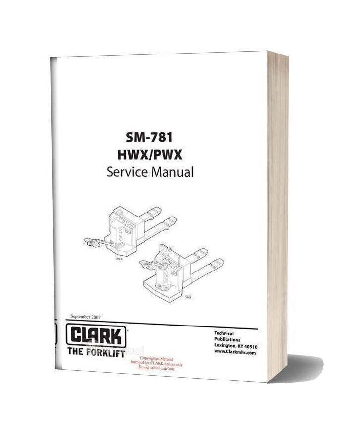 Clark Sm 781 Service Manual