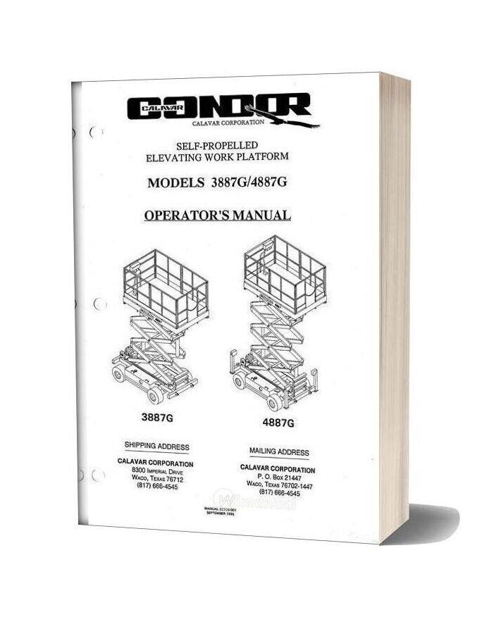 Condor Scissors Lift 3887g 4887g 92328 Parts Book