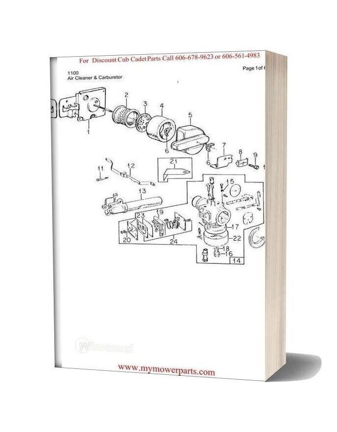 [SCHEMATICS_48DE]  Cub Cadet Parts Manual For Model 1100 | Cub Cadet Wiring Diagram For 1100 |  | WiManual