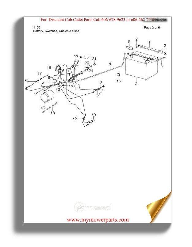 [QNCB_7524]  Cub Cadet Parts Manual For Model 1100 | Cub Cadet Wiring Diagram For 1100 |  | WiManual