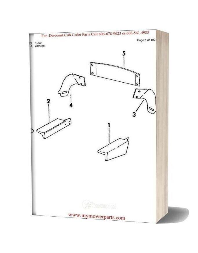 Cub Cadet Parts Manual For Model 1250