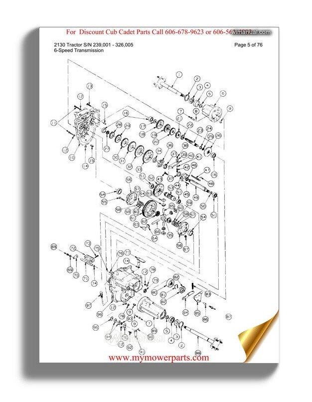 Cub Cadet Parts Manual For Model 1650