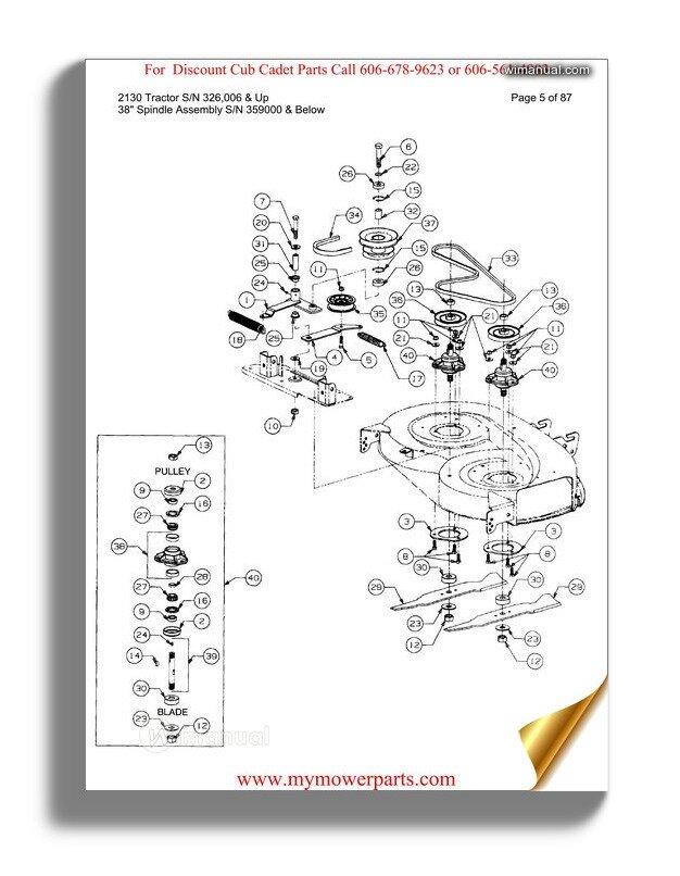 Cub Cadet Parts Manual For Model 169