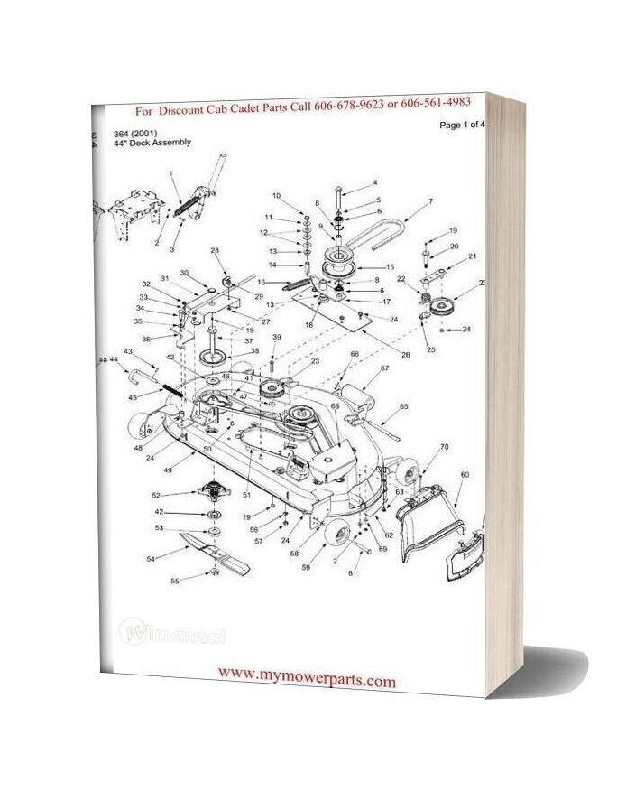 Cub Cadet Parts Manual For Model 364 2001