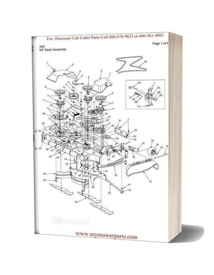 Cub Cadet Parts Manual For Model 365