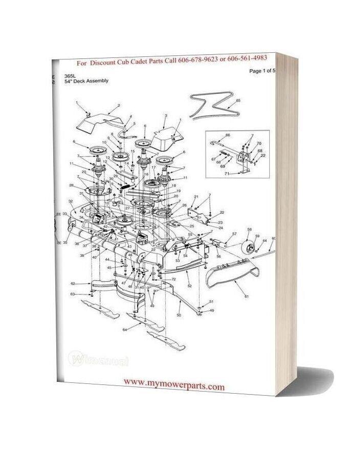 Cub Cadet Parts Manual For Model 365l