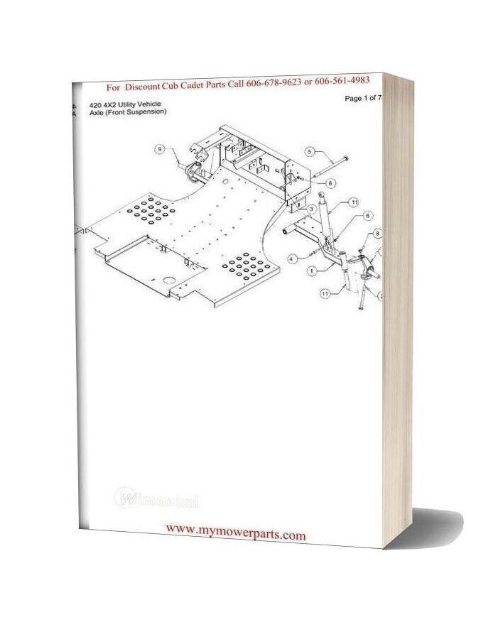 Cub Cadet Parts Manual For Model 420 4x2 Utility Vehicle