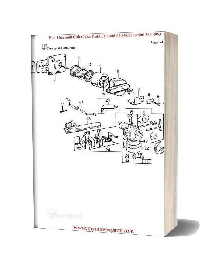 Cub Cadet Parts Manual For Model 482