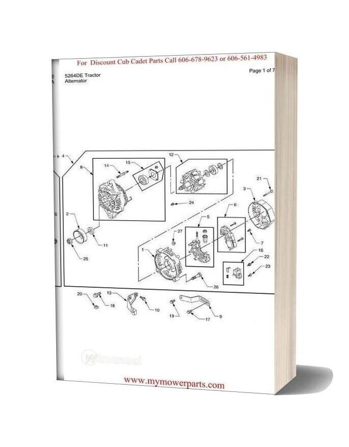 Cub Cadet Parts Manual For Model 5264de Tractor