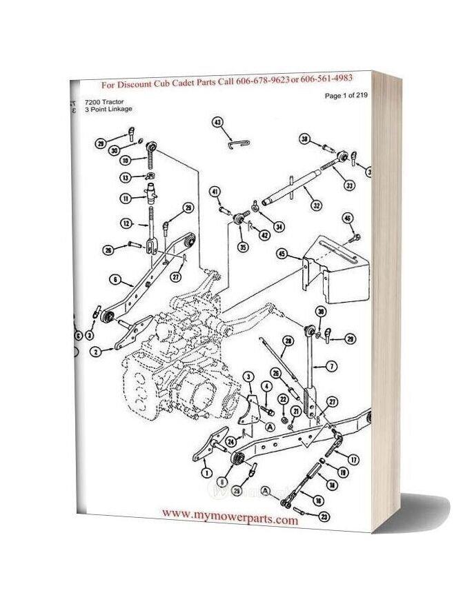 Cub Cadet Parts Manual For Model 7200 Tractor
