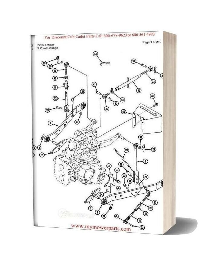 Cub Cadet Parts Manual For Model 7205 Tractor