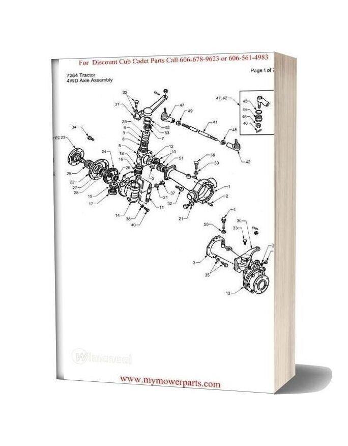 Cub Cadet Parts Manual For Model 7264 Tractor