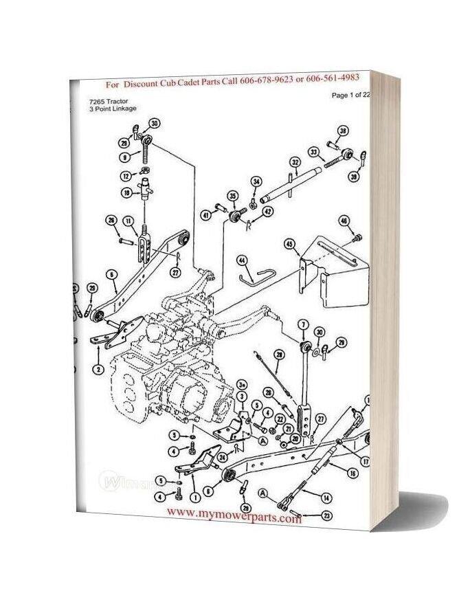 Cub Cadet Parts Manual For Model 7265 Tractor