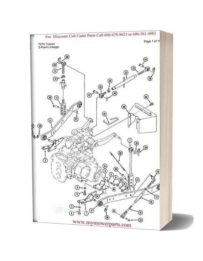 Cub Cadet Parts Manual For Model 7274 Tractor