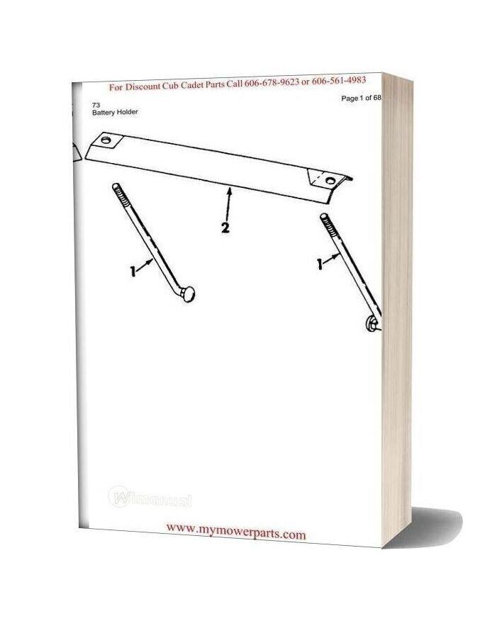 Cub Cadet Parts Manual For Model 73