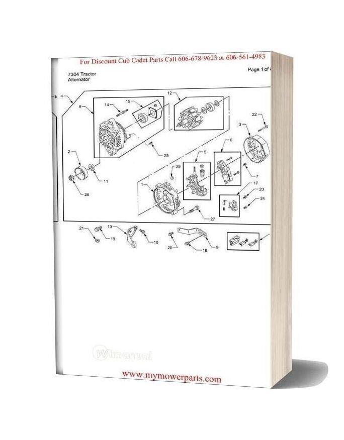 Cub Cadet Parts Manual For Model 7304 Tractor