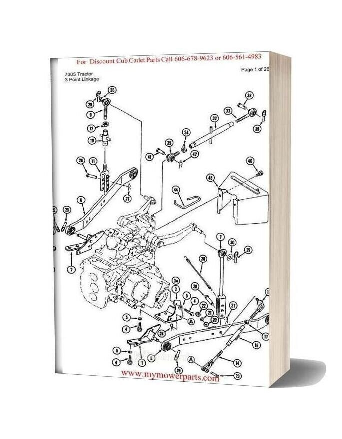 Cub Cadet Parts Manual For Model 7305 Tractor