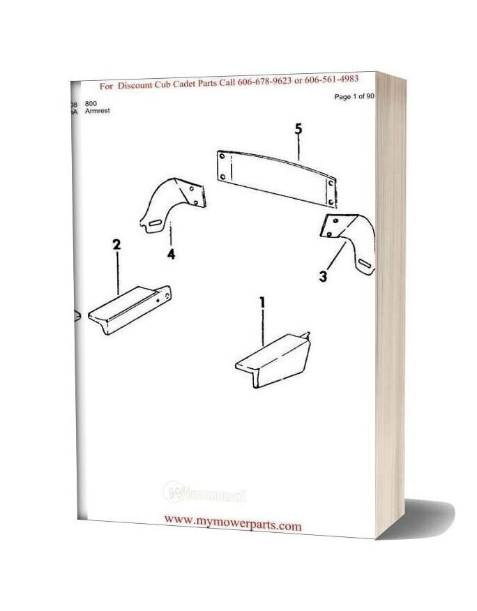 Cub Cadet Parts Manual For Model 800