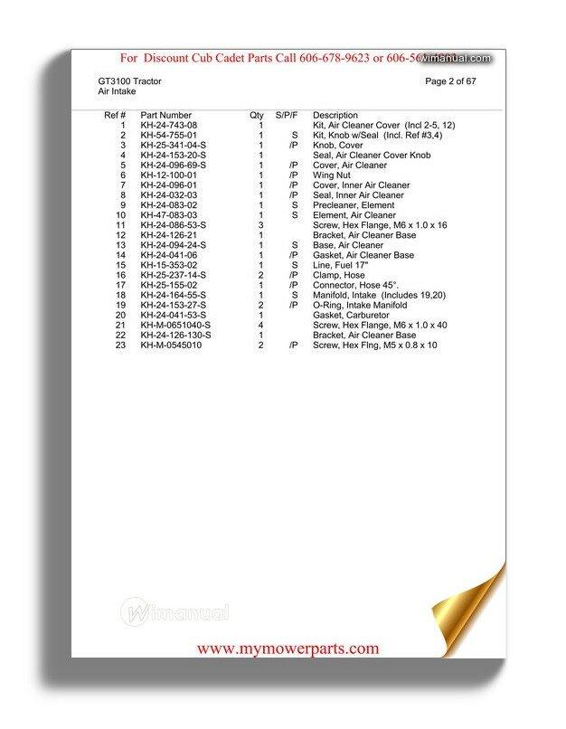 cub cadet 2135 service manual