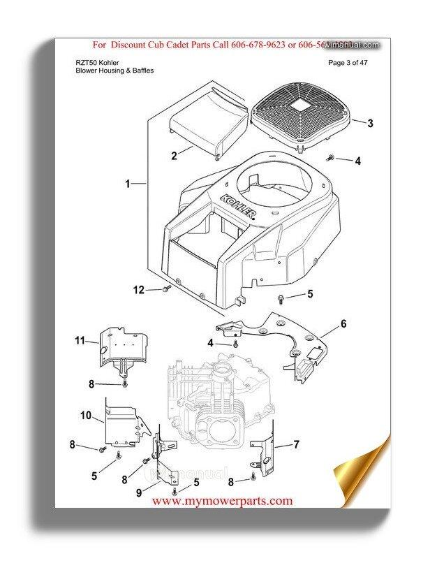[DIAGRAM_3US]  Cub Cadet Parts Manual For Model Rzt50 Kohler | Cub Cadet Rzt 50 Schematic |  | WiManual