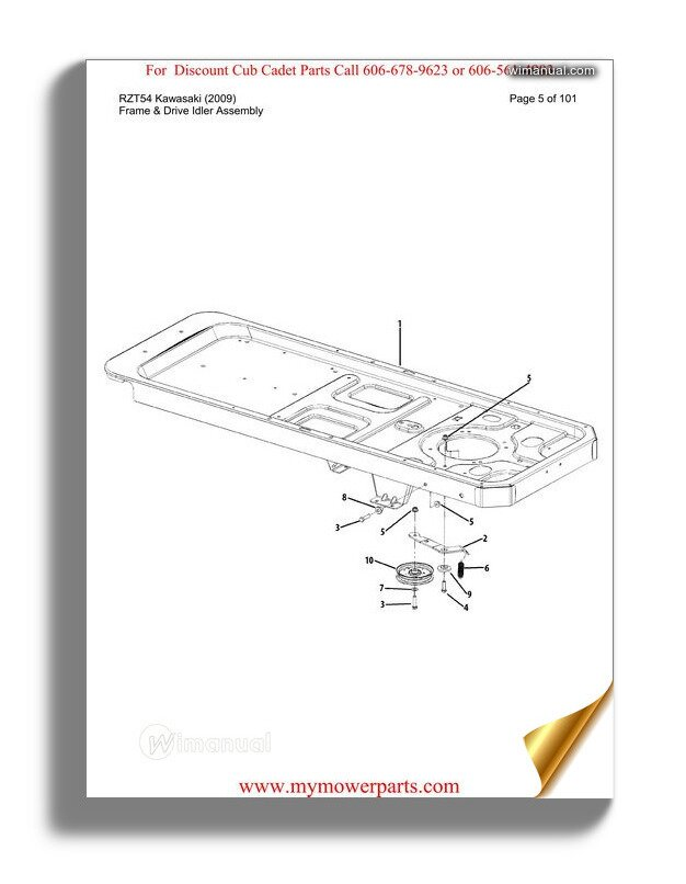 Cub Cadet Parts Manual For Model 7233 Tractor on