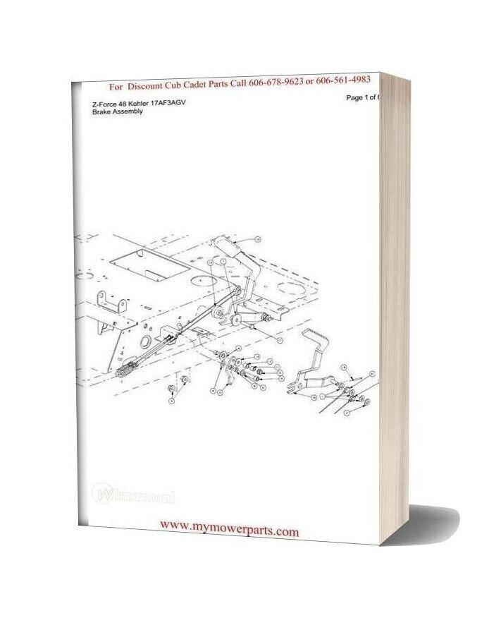Cub Cadet Parts Manual For Model Z Force 48 Kohler 17af3agv