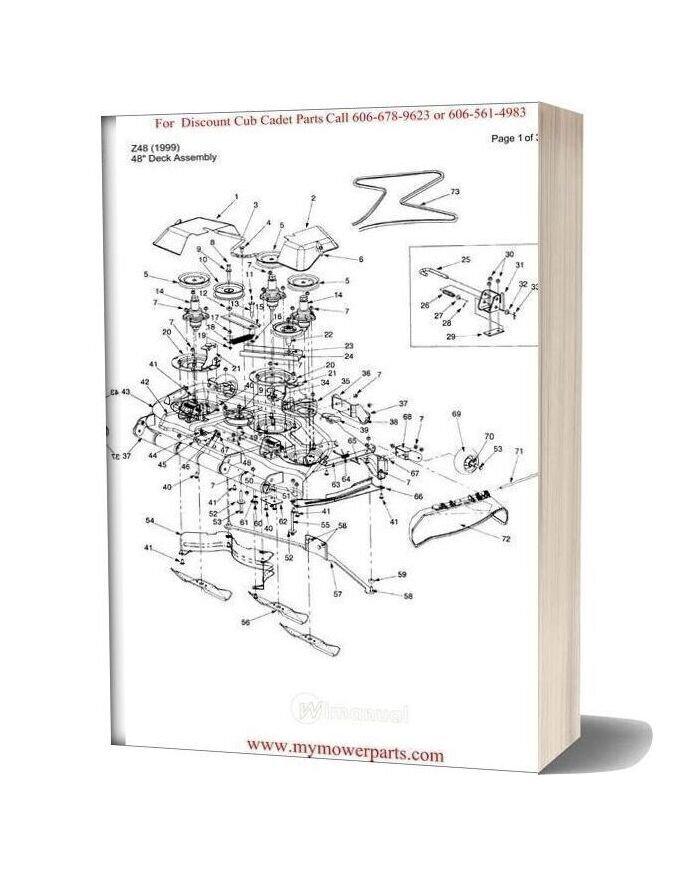 Cub Cadet Parts Manual For Model Z48 1999