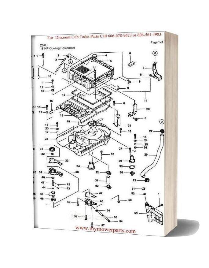 Cub Cadet Parts Manual For Model Z54l