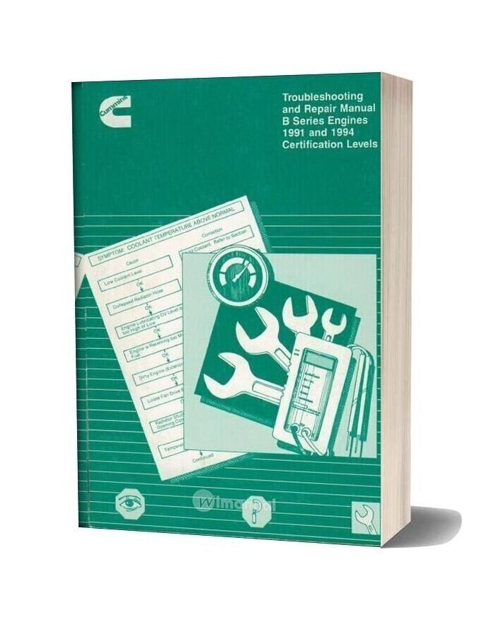 Cummins B Series 1991 And 1994 Troubleshooting Repair Manual