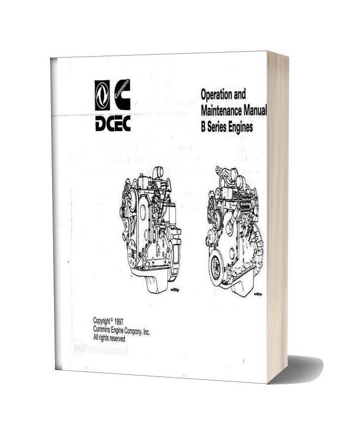 Cummins B Series Engines Operation And Maintenance Manual