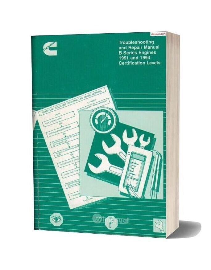 Cummins B Series Troubleshooting And Repair Manual