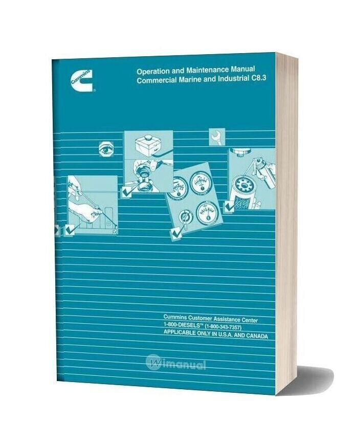 Cummins Commercial Marine And Industrial C8 3 Operation Maintenance Manual