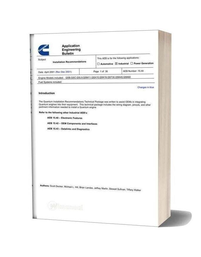 Cummins Diagramas Electricos De Motores Qsc 8 3