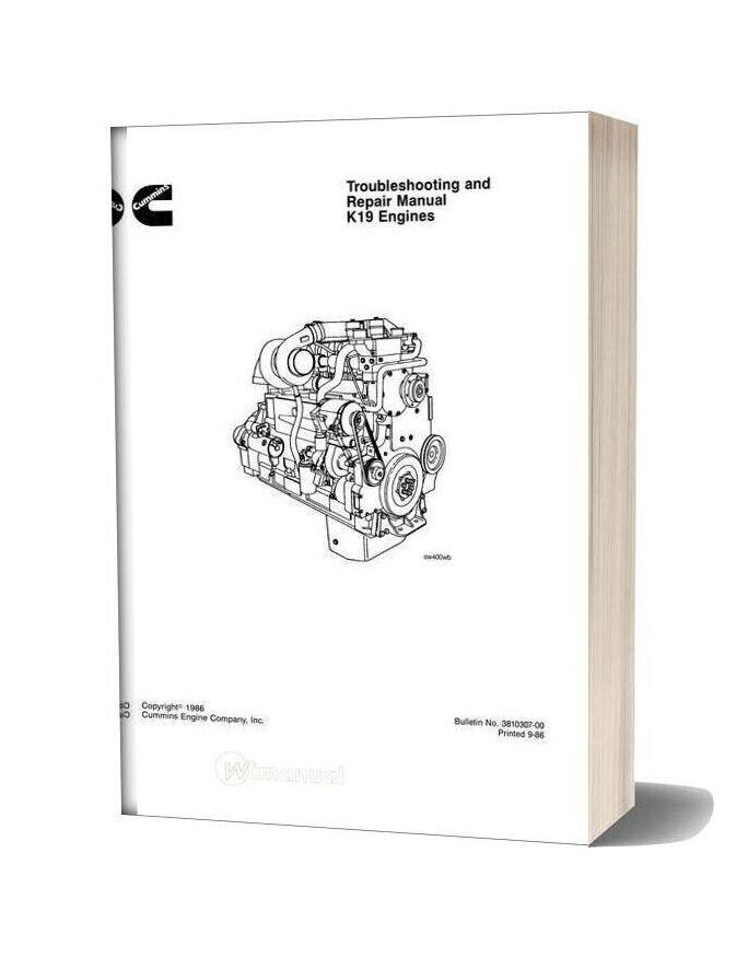 Cummins Engine K19 Troubles Manual