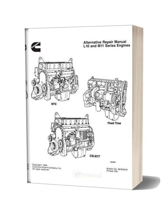 Cummins Engine L10 M11 Repair Manual
