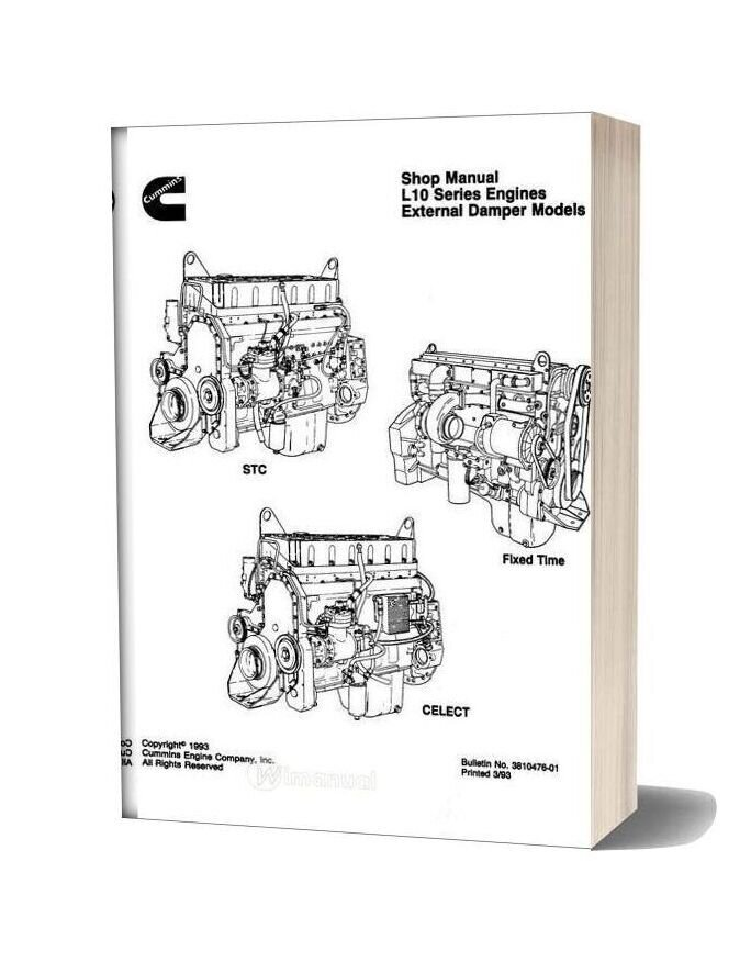 Cummins Engine L10 Series Repair Manual