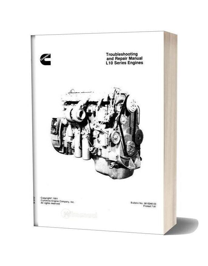 Cummins Engine L10 Troubles Manual