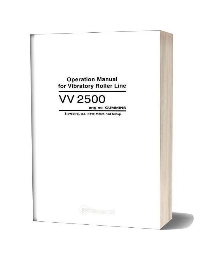 Cummins Engine Vv2504a1 Operation Manual