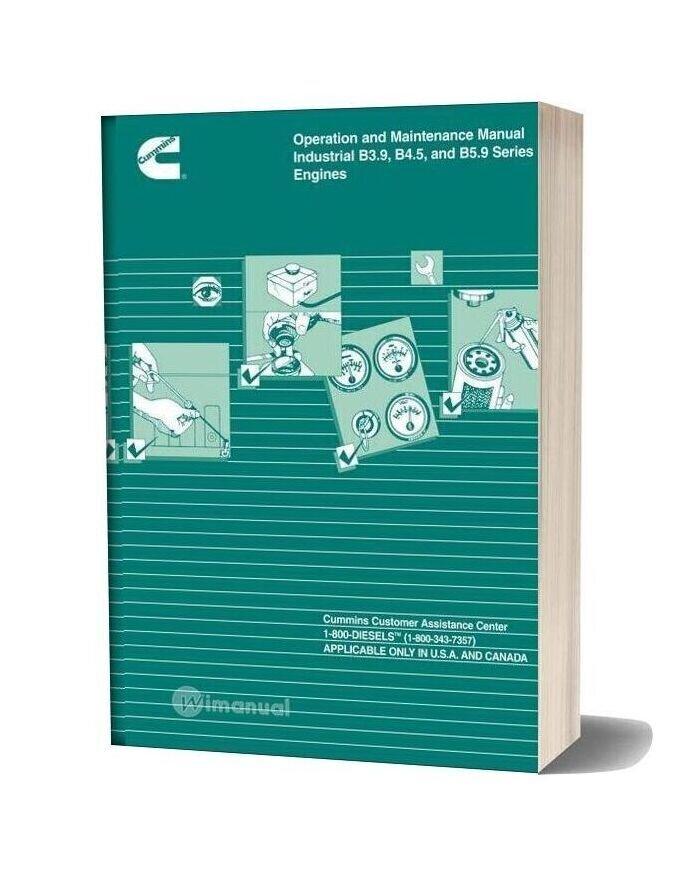 Cummins Industrial B3 9 B4 5 And B5 9 Series Engine Operation Maintenance Manual