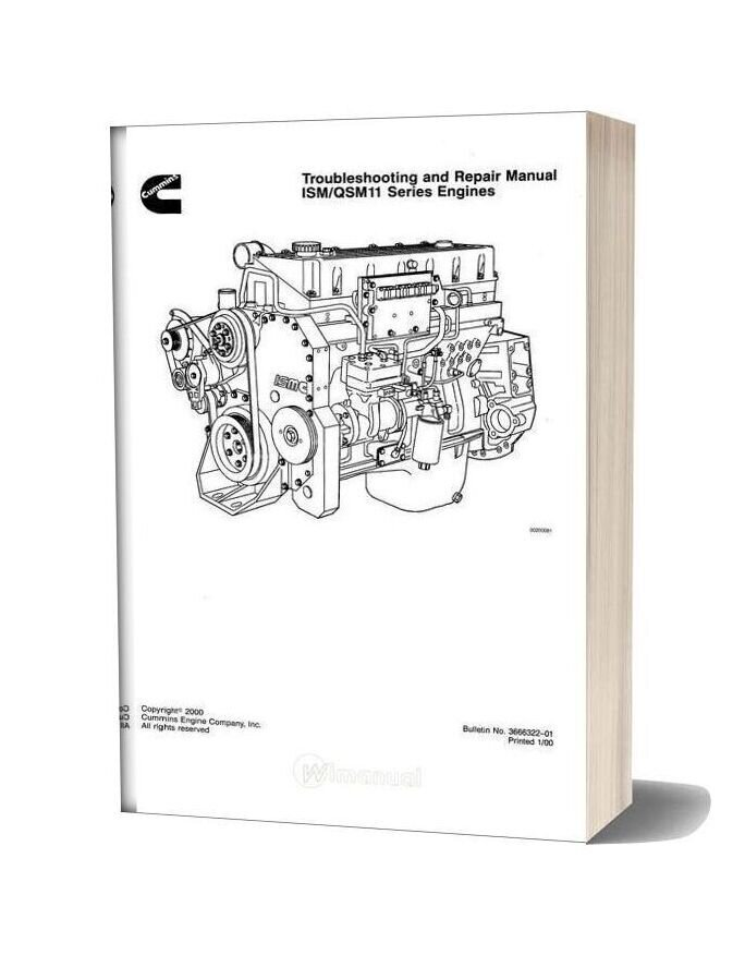 Cummins Ism Qsm11 Series Engines Repair Manual