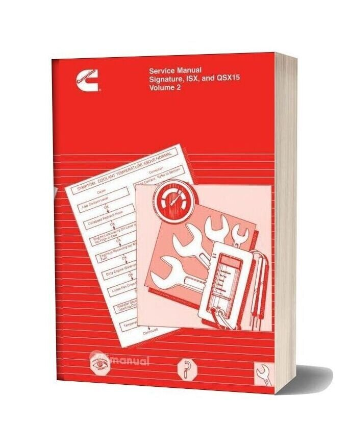 Cummins Isx And Qsx 15 Volume 2 Service Manual