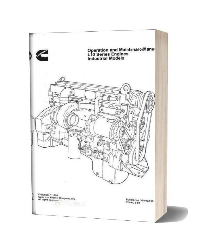Cummins L10 Operation And Maintence Manual