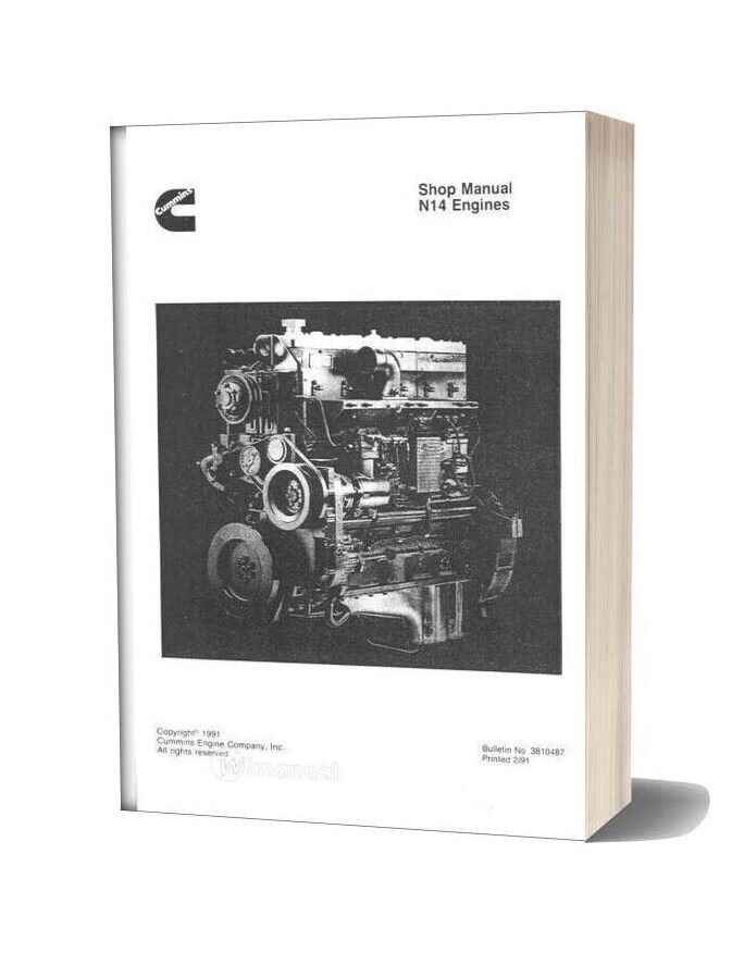 Cummins Motor Diesel N14 Engine