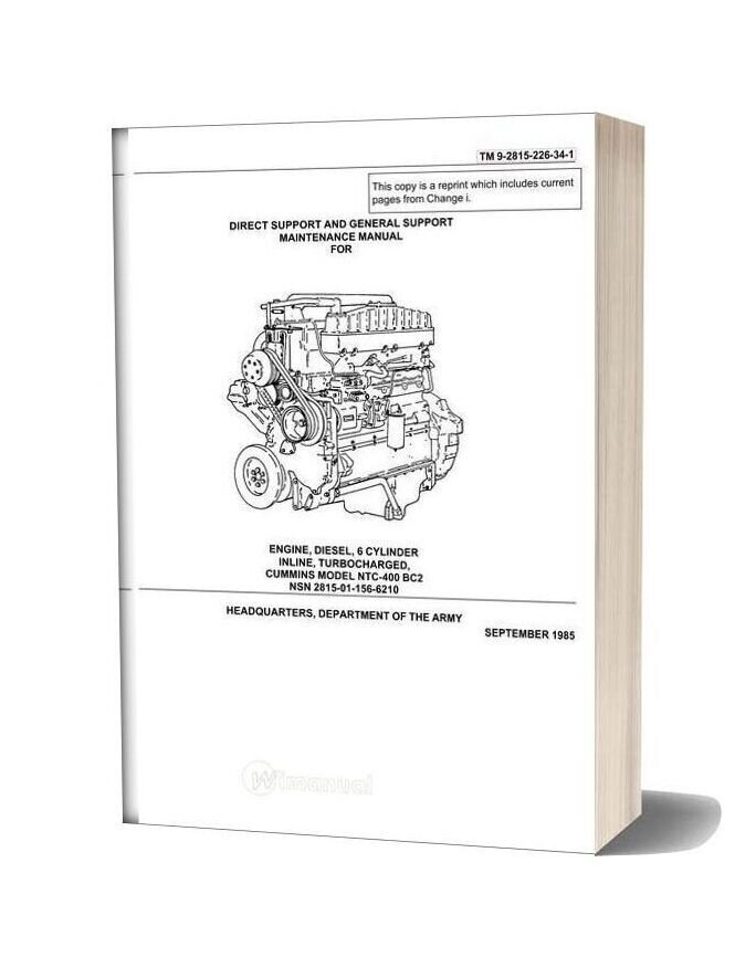 Cummins Ntc 400 Service Manual