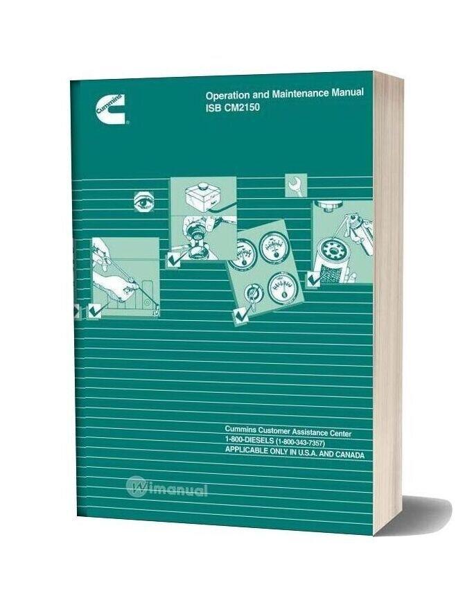 Cummins Operation And Maintenance Manual Isb Cm2150