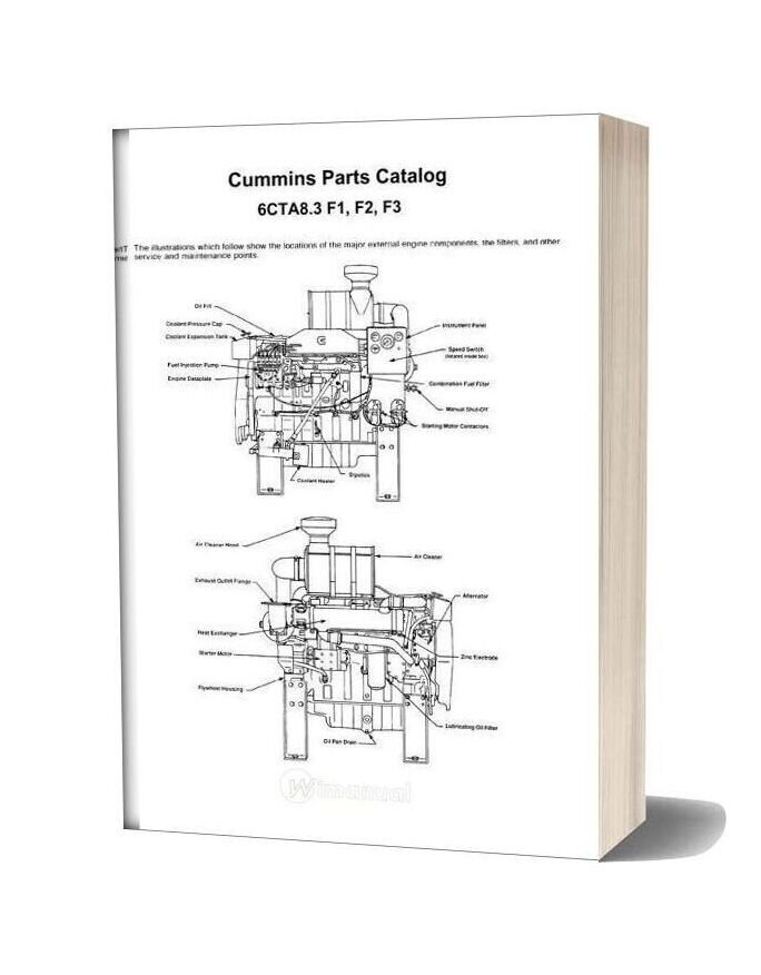 Cummins Parts Catalog 6cta8 3 F1 F2 F3