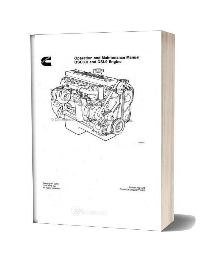 Cummins Qsc8 3 And Qsl9 Tier2 Engine Service Manual